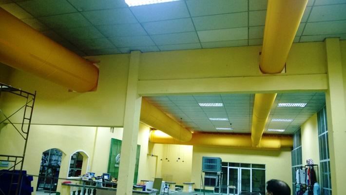 Lịch sử hình thành và phát triển của ống gió vải Fabricair - Cong trinh Galaxy Trading Office